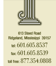 613 Steed Road, Ridgeland, Mississippi 39157 - tel:601.605.8537, fax:601.605.8539, toll free:877.354.0808